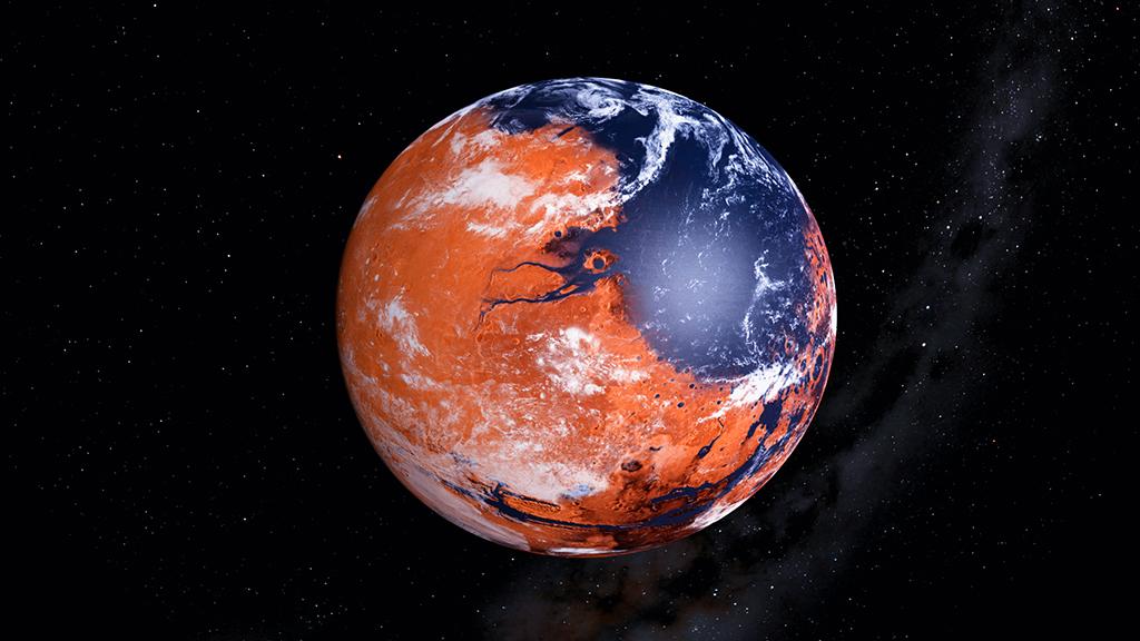كم يبعد المريخ عن الارض