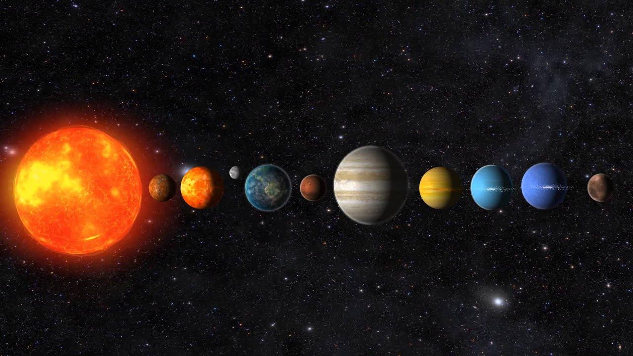 مكونات النظام الشمسي حسب الأقرب من الشمس
