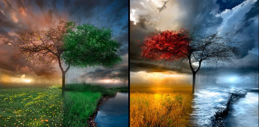 ماذا نسمي أوقات السنة ذات الأنواع المختلفة من الطقس