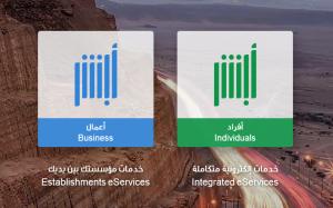 الخدمات الالكترونية عرض بيانات الرقم الصادر