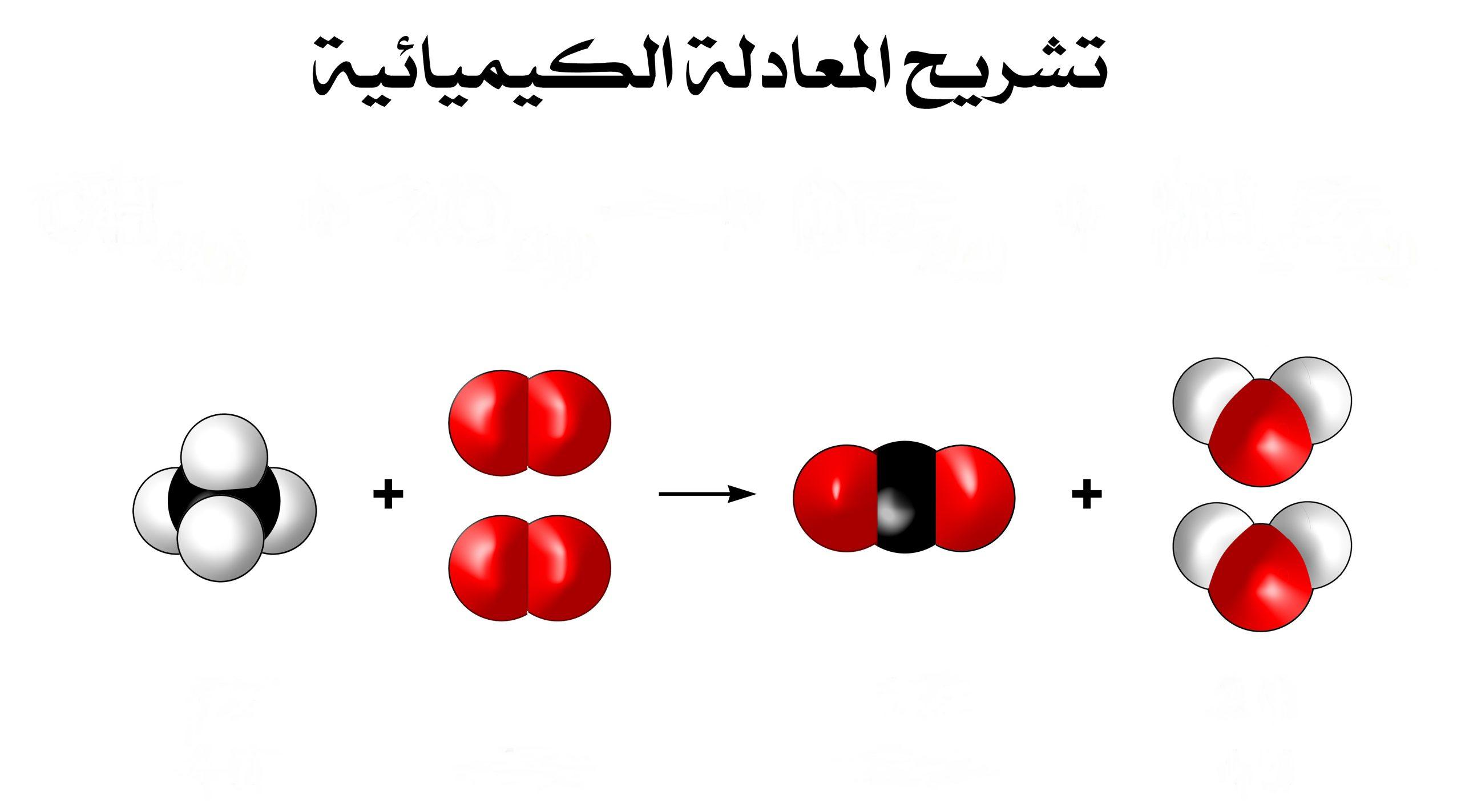 في المعادلات الكيميائية ماذا يظهر جهة ذيل السهم