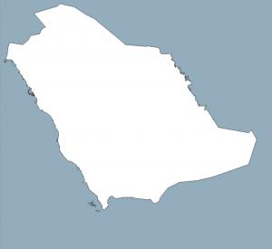 خريطة المملكة العربية السعودية صماء