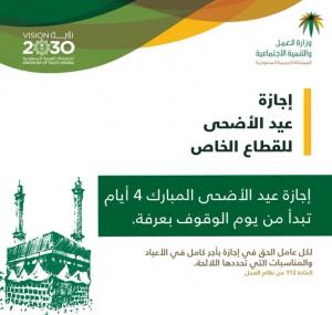 تفاصيل اجازة البنوك في عيد الاضحى بالسعودية 1442